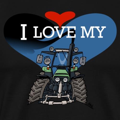 0841 0443 I love my D - Mannen Premium T-shirt