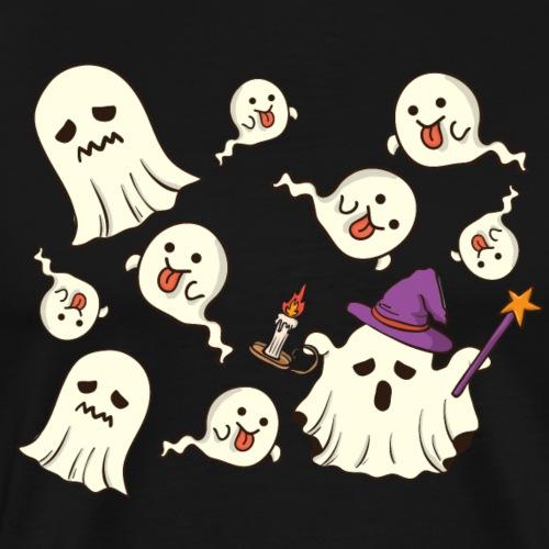 Cute Halloween Ghosts - Men's Premium T-Shirt