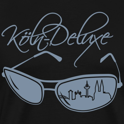 Köln Deluxe Brille groß - Männer Premium T-Shirt