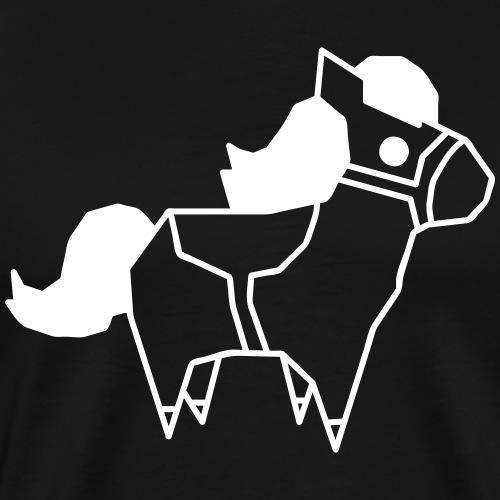 Low Poly Pony - Männer Premium T-Shirt