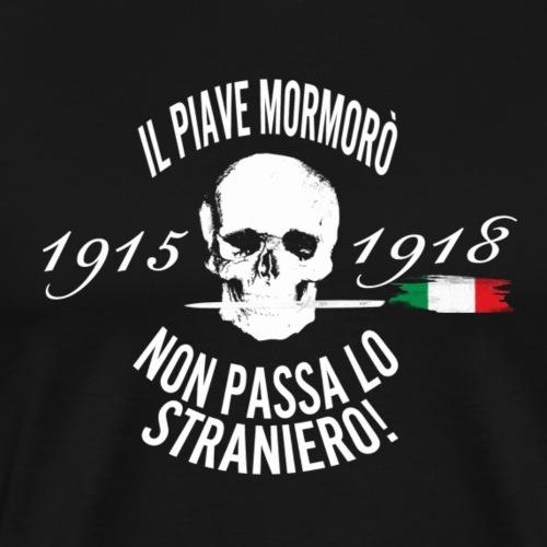 Piave, fiume sacro alla patria (versione in nero) - Maglietta Premium da uomo