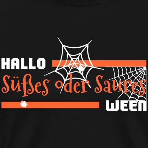 Süsses Saures Trick Treat Halloween Spinne - Männer Premium T-Shirt
