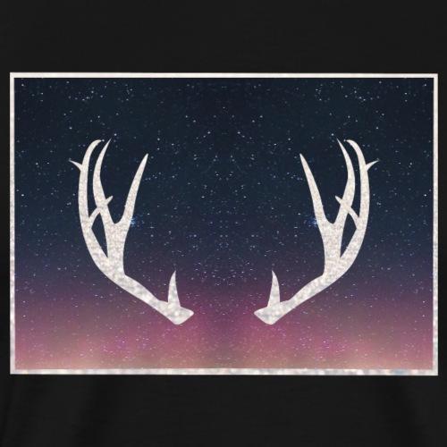 Poronsarvet taustalla - Miesten premium t-paita