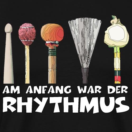 Rhythmussto cke - Männer Premium T-Shirt