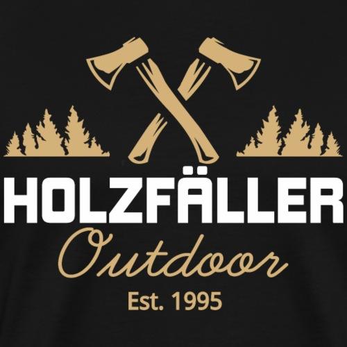 Holzfaeller Lumberjack Waldarbeiter Shirt Geschenk - Männer Premium T-Shirt