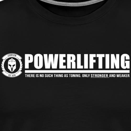 Legion Clothing | Powerlifting - Miesten premium t-paita