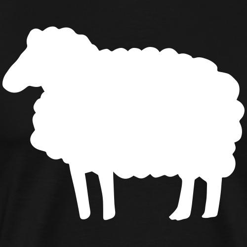 Farbe anpassbar Lustiges Schaf Silhouette Geschenk - T-shirt Premium Homme