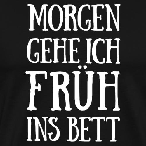 Nachteulenspruch - Men's Premium T-Shirt
