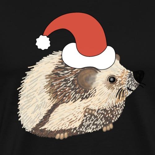 Christmas hedgehog - Men's Premium T-Shirt