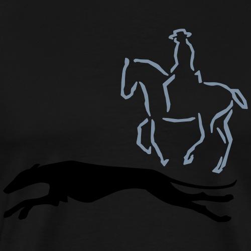 Reiter mit Windhund - Männer Premium T-Shirt