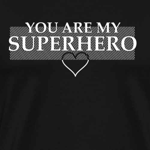 Superhero White - Männer Premium T-Shirt