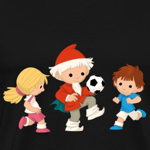 Sandmännchen spielt Fusball - Männer Premium T-Shirt
