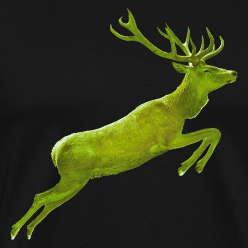 Hirschsprung ins Grüne - Männer Premium T-Shirt