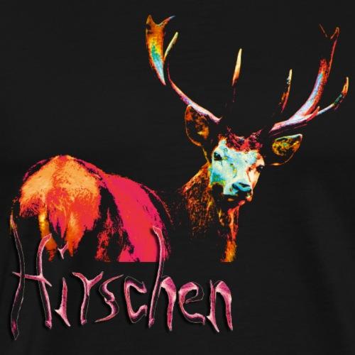 Hirschgeist rot - Männer Premium T-Shirt