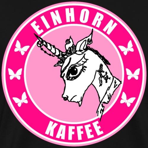 Einhorn Kaffee Punk - Männer Premium T-Shirt