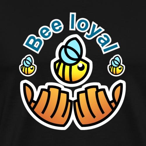 Save the bees - Bienen Logo - Männer Premium T-Shirt
