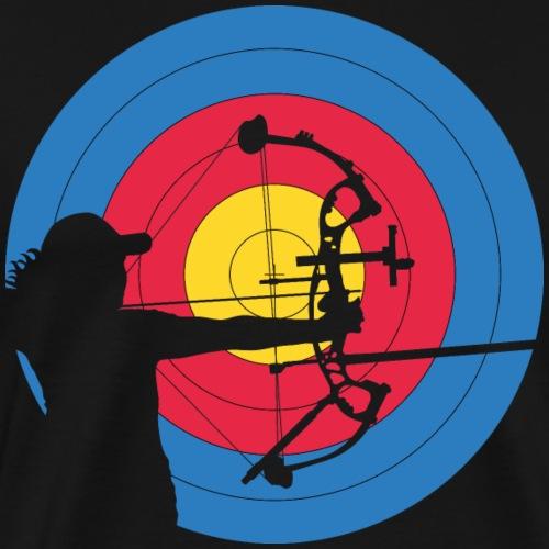 ArcLab Archer Woman Compound Target - T-shirt Premium Homme