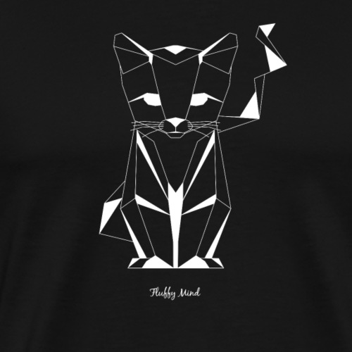 Chat origami - T-shirt Premium Homme