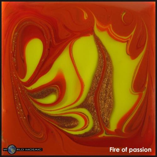 TIAN GREEN Mosaik DK011 - Fire of passion - Männer Premium T-Shirt