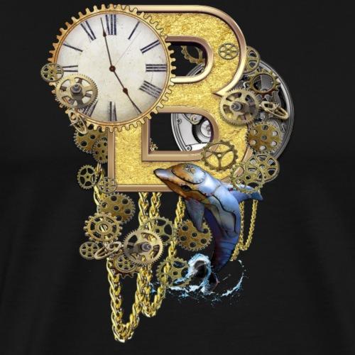Steampunk letter B - Men's Premium T-Shirt