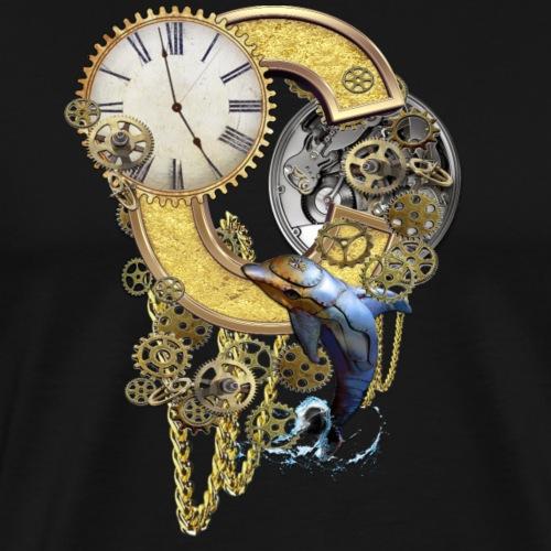 Steampunk Capital C - Men's Premium T-Shirt