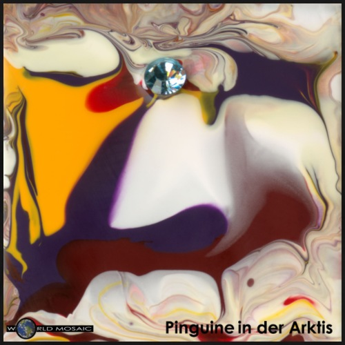 TIAN GREEN Mosaik DE104 - Pinguine in der Arktis - Männer Premium T-Shirt
