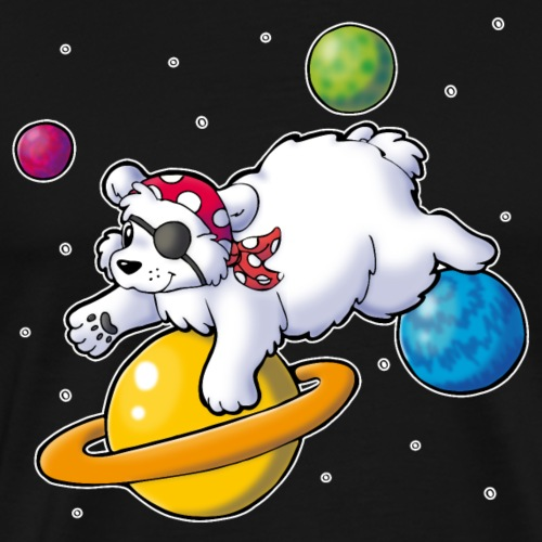 Piraten Eisbär im Weltall - Männer Premium T-Shirt