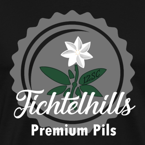 Fichtelhills Kronkorken - Männer Premium T-Shirt
