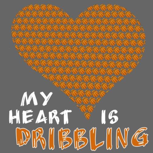 My heart is dribbling like a basketball - Männer Premium T-Shirt