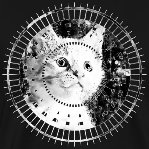 gxp niedlich süße weiße starre Blick Katze WF sw - Männer Premium T-Shirt