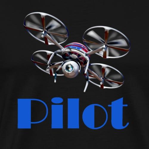 Drohnen Pilot blue - Männer Premium T-Shirt