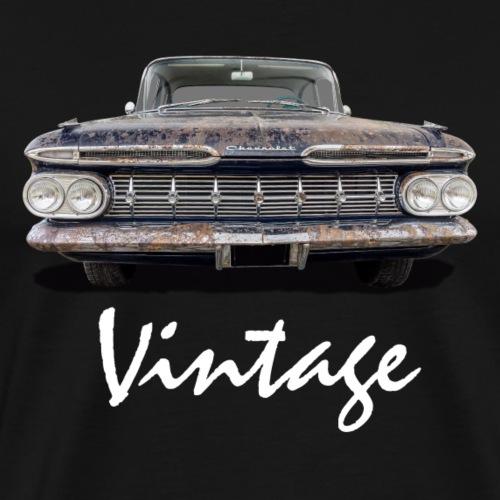 Vintage Car weiss - Männer Premium T-Shirt