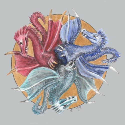 Drachenreigen - Männer Premium T-Shirt