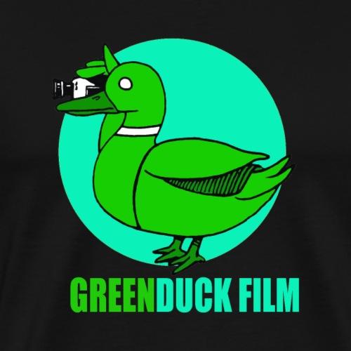 Greenduck Film Turkis blue sun Logo - Herre premium T-shirt