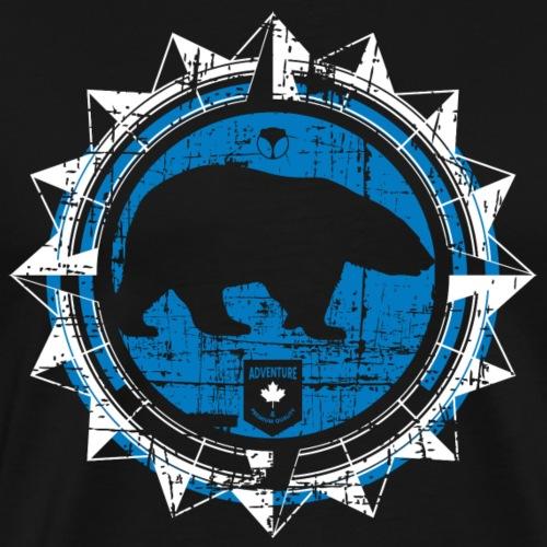 Eisbär Kompass Blau weiss - Männer Premium T-Shirt