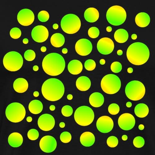 Bubbles grün - Männer Premium T-Shirt