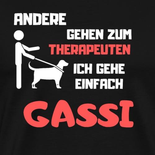 Andere gehen zum Therapeuten Ich gehe Gassi - Männer Premium T-Shirt