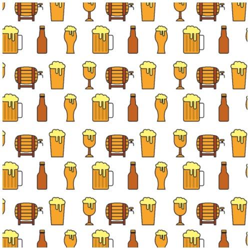 Bierfass Bierglas Bierflasche - Männer Premium T-Shirt