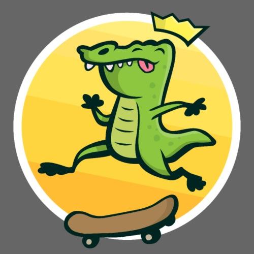Skateboard Krokodil - Männer Premium T-Shirt