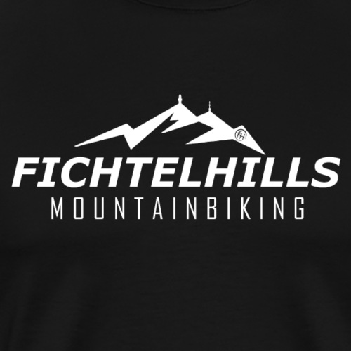 Fichtelhills MTB white line - Männer Premium T-Shirt
