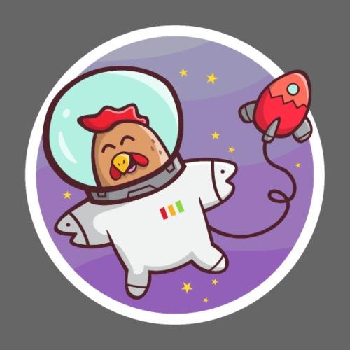 Weltraum Huhn - Männer Premium T-Shirt