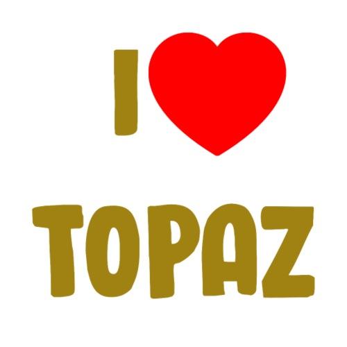 I love topaz - Premium T-skjorte for menn
