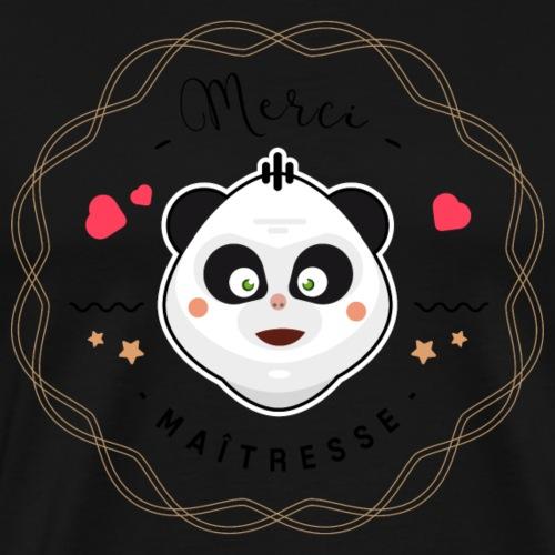 Merci maitresse-panda - T-shirt Premium Homme