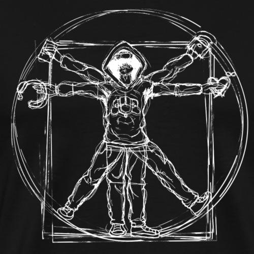 Vitruvian Gamer White Print - Männer Premium T-Shirt