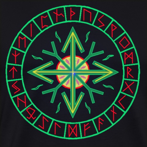 Runen - Kreis des Lebens - Männer Premium T-Shirt