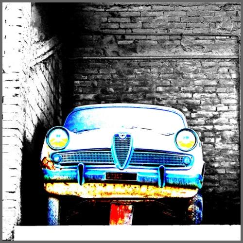Vecchia auto abbandonata - Maglietta Premium da uomo