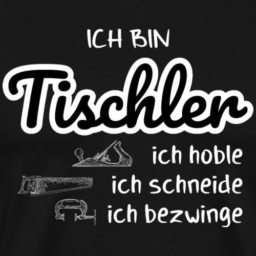 Tischler Hobel Schreiner Shirt Geschenk - Männer Premium T-Shirt