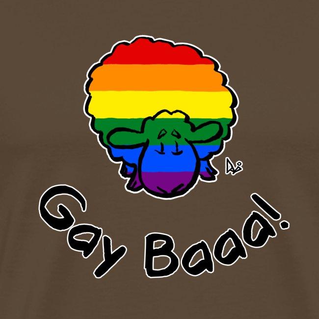 Homosexuell Baaa! Rainbow Pride Sheep (schwarze Ausgabe)