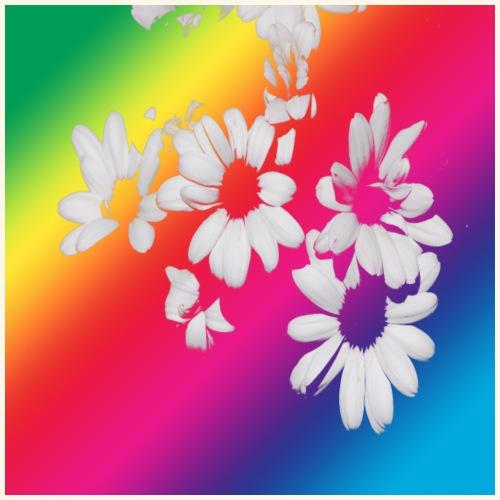 Fiori arcobaleno - Maglietta Premium da uomo