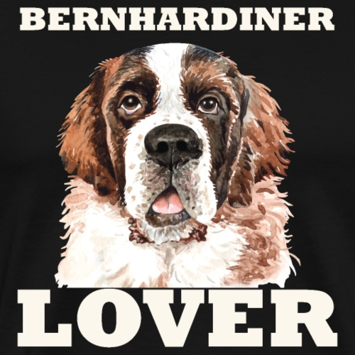 Bernhardiner Lover - Männer Premium T-Shirt